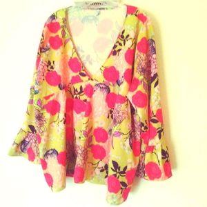 MISSLOOK v-neck blouse NWOT